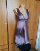 Piękna sukienka połyskująca asymetryczna JORA Collection XS NOWA