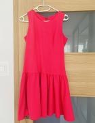 fuksjowa mini sukienka s 36 jak nowa...