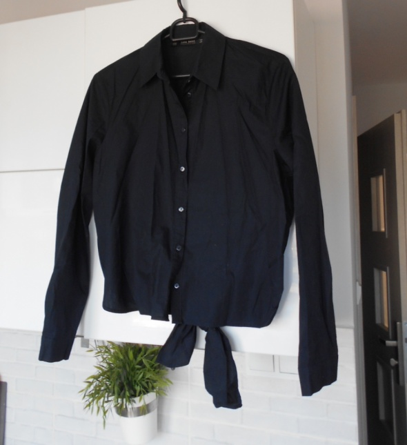 Zara koszula wiązana ciemna