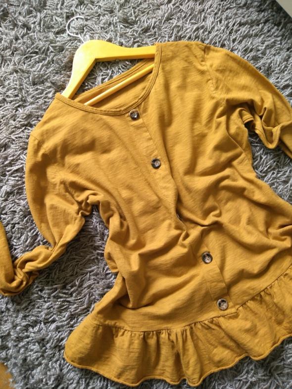musztardowa bluzka damska...