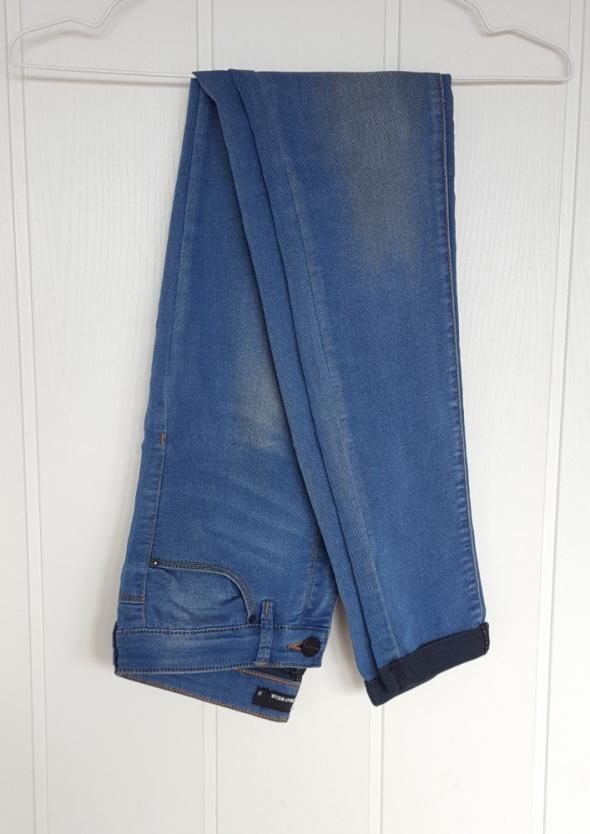 Jeansy spodnie Tally Weijl 36 S 34 XS rurki dopaskowane niebieskie granatowe