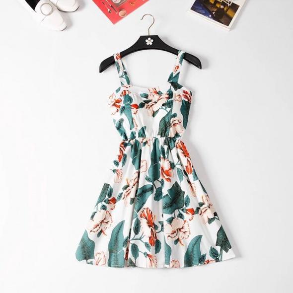Nowa sukienka letnia mini M 38 L 40 XL 42 kwiatowa wzór egoztyczny