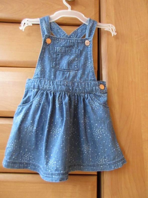 Sukienka gwiazdki ala jeans F&F szelki roz 98