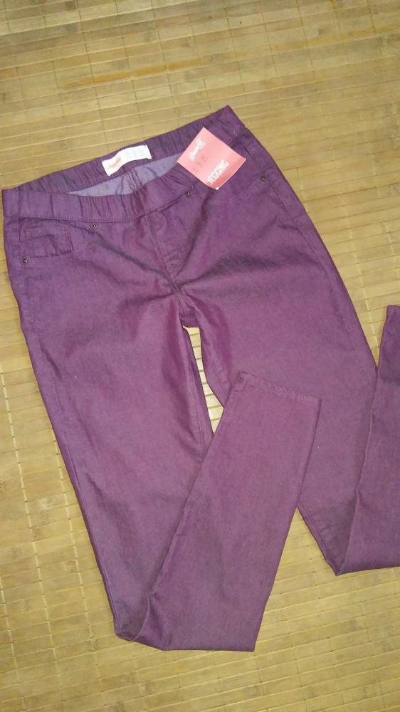 Jegginsy spodnie bordowe