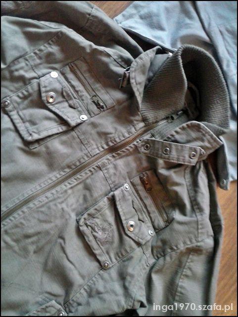 Militarna przejściowa vintage na 158 cm TANIO