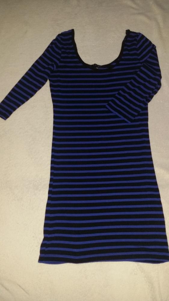 Kobalt sukienka w paski AMISU 38