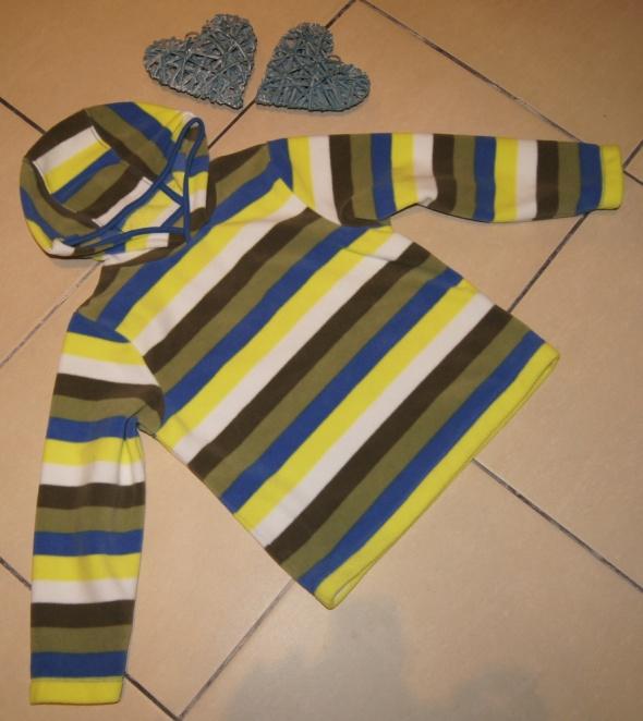 Bluza chłopiec polar paseczki Mothercare rozm 116 do 122