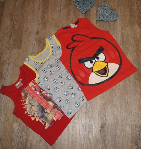 Bluzeczka koszulka zestaw Angry Birds Minionki Hulk rozm 110 116