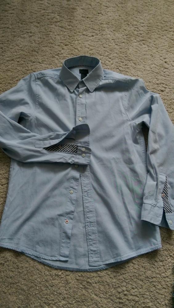Męska koszula niebieska HM rozm XS slim