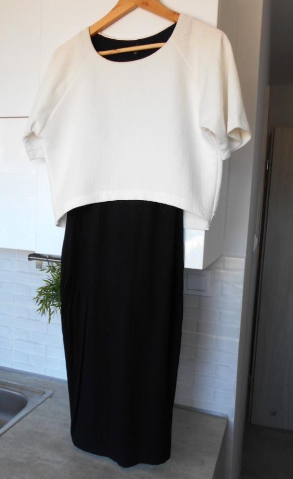 River Island sukienka dwukolorowa minimalizm