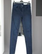 jeansy rurki dżinsy granatowe klasyczne elastyczne skinny...