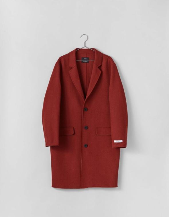 Męski płaszcz długi Bershka nowy z metkami wełna