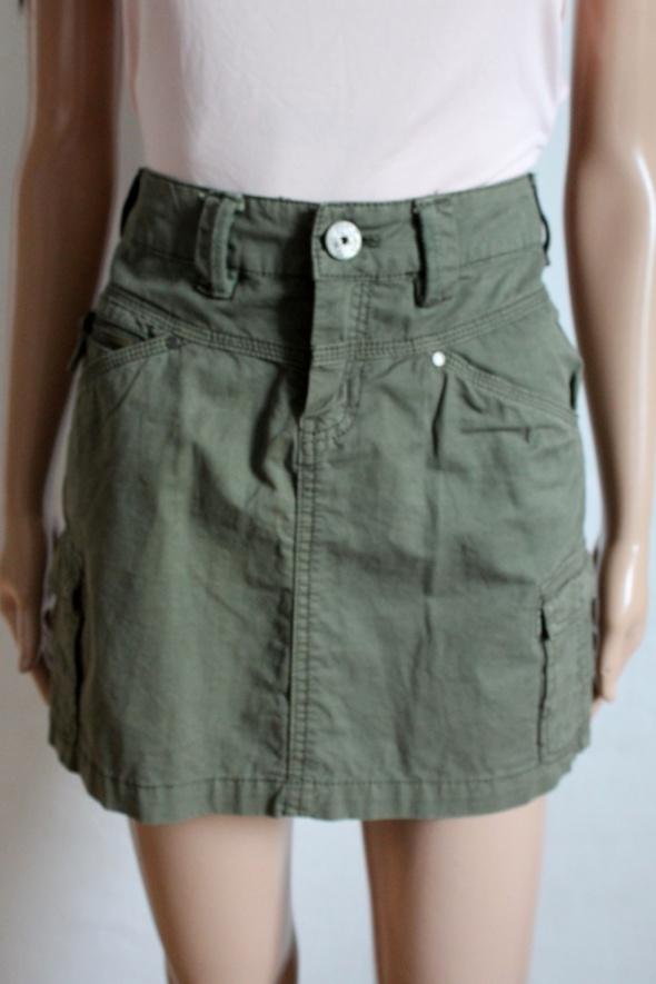 Krótka spódniczka khaki r XS...