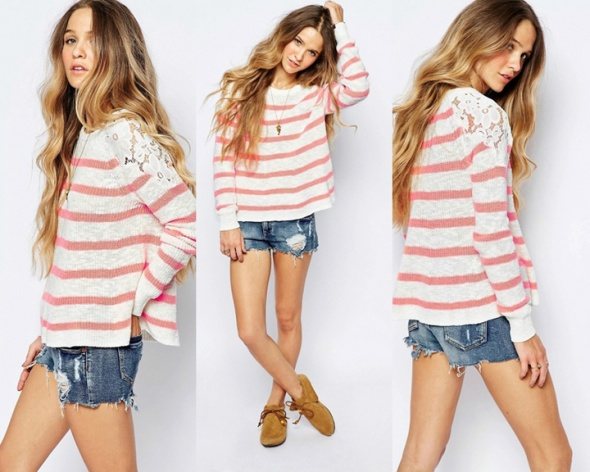 ABERCROMBIE&FITCH HOLLISTER NOWY SWETER L