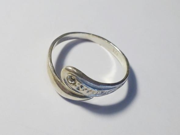 srebrny pierścionek próba 925 r 14