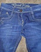 Granatowe rurki jeans 140 146