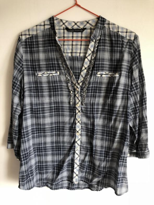 Granatowa koszula w kratkę Zara