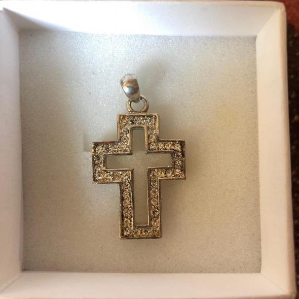 Piękny srebrny krzyż 925