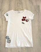 2df5a9a5f8daa7 House biały t shirt z naszywkami klasyczna koszulka XS komiks.