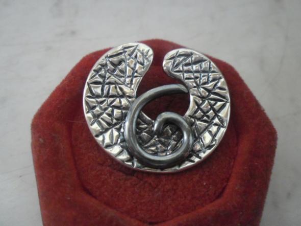 Bardzo ładna srebrna nowa zawieszka część kompletu