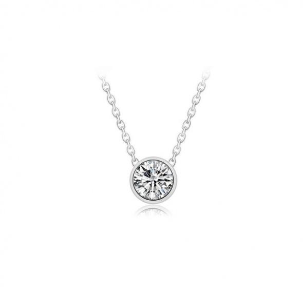 Nowa bransoletka srebrna srebrny kolor duża cyrkonia biała diament