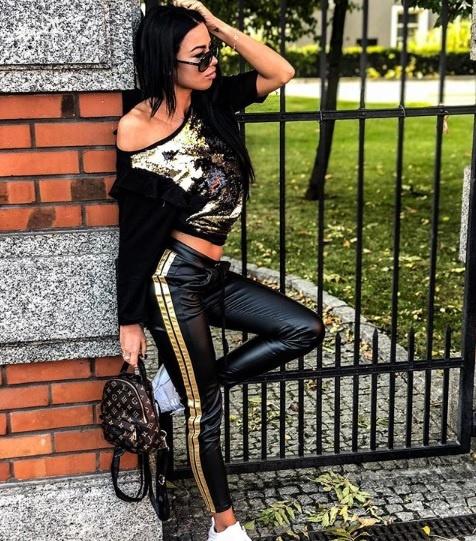Absolutny HIT legginsy ze złotymi