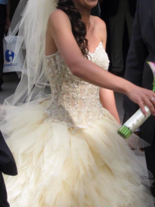 Sukienka ślubna ecru szampańskie...