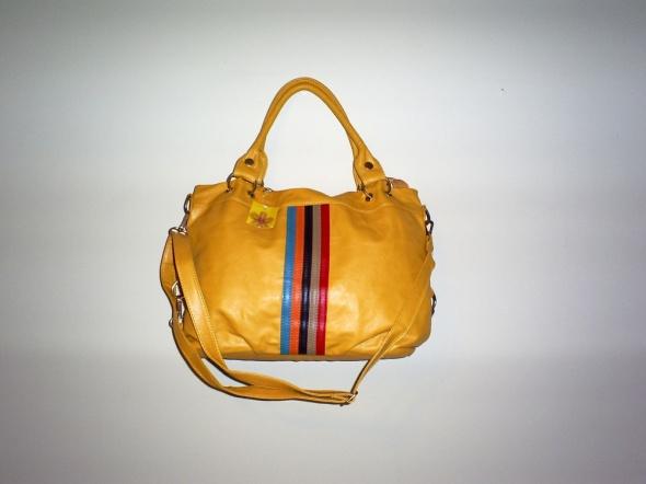Nowa żółta torebka odpinane uszy