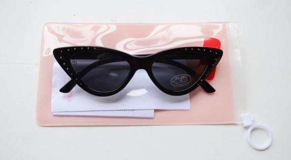 Okulary Przeciwsłoneczne NOWE Bershka Kocie Oczy Dżety