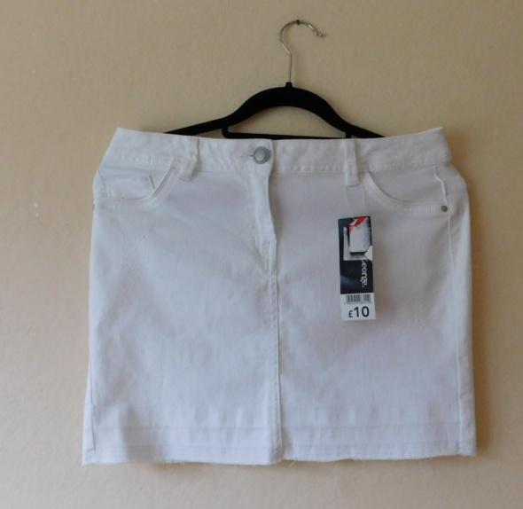 Spódnice George biała spódnica mini jeans 38 40