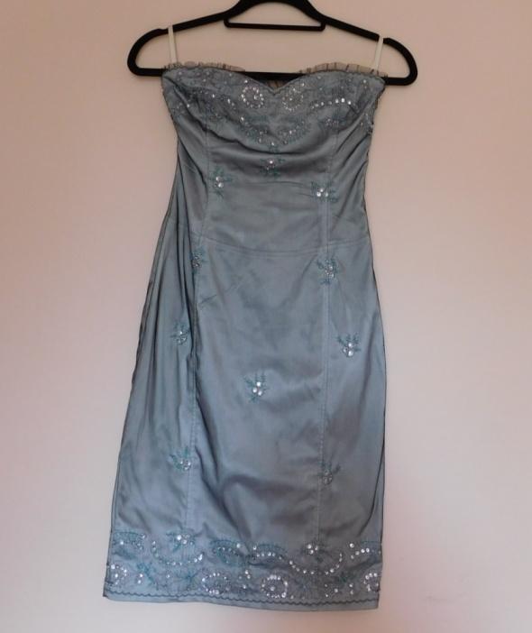 Jane Norman sukienka sexy niebieska 36...
