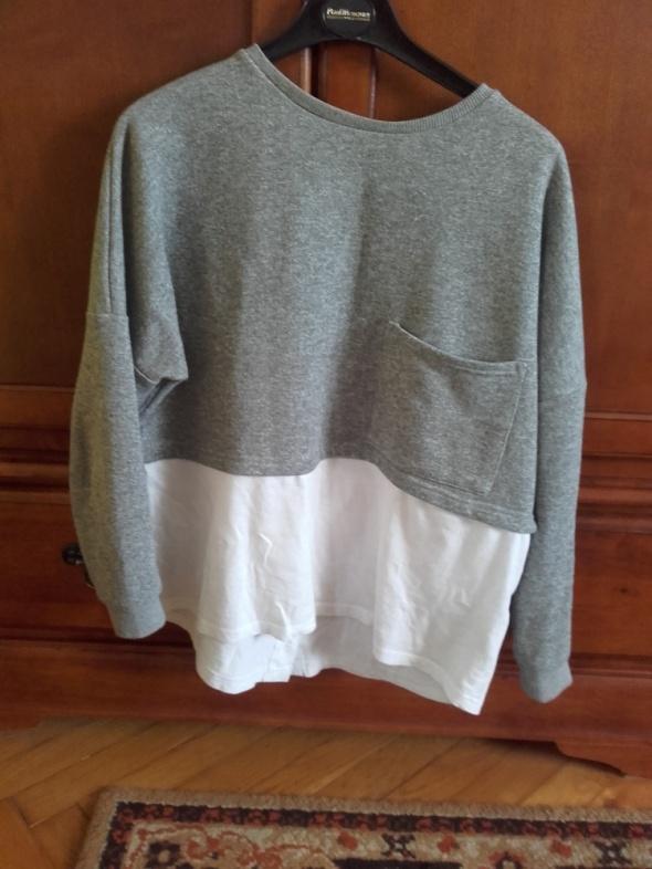 Szaro biała bluza