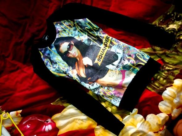 Blogerska Bluza Print Oryginalny Motyw CUDEŃKO