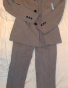 komplet 36 marynarka spodnie w pepitkę Blue Fields