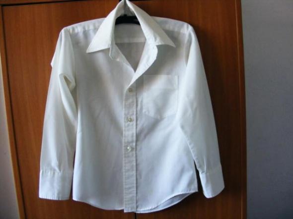 Biała bluzka koszulowa chłopięca R 12