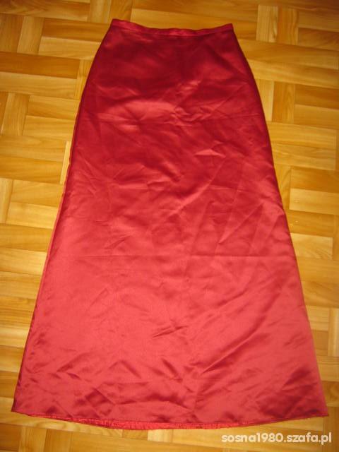 Długa spódnica satynowa