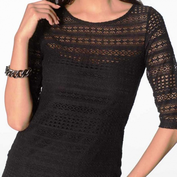 Mała czarna sukienka wizytowa koronkowa 40 lub 42...