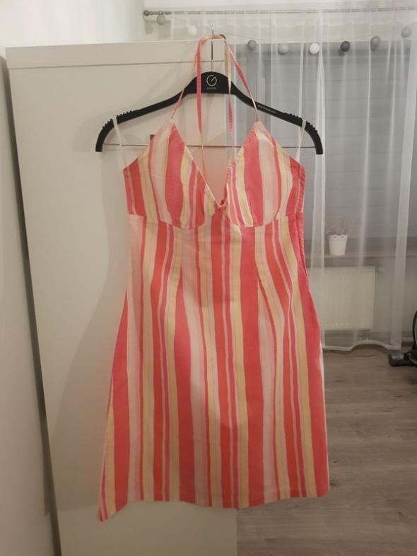 letnia sukienkeczka w paski h&m...