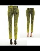 COS WEEKDAY marmurkowe spodnie jeans ACID 200zł S...