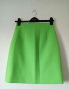 Limonkowa elegancka spódnica...