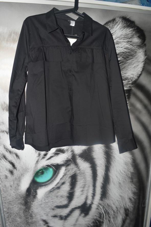 Czarna koszula H&M Nowa falbanka