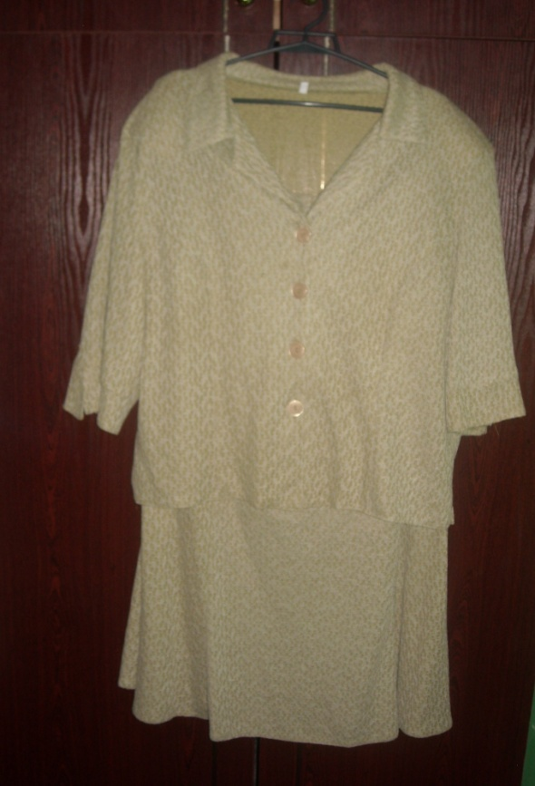 Komplet kostium garsonka sukienka bluzka spódnica 48 50 52