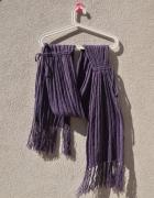 HOUSE fioletowy długi szal warkocze ściągacze...