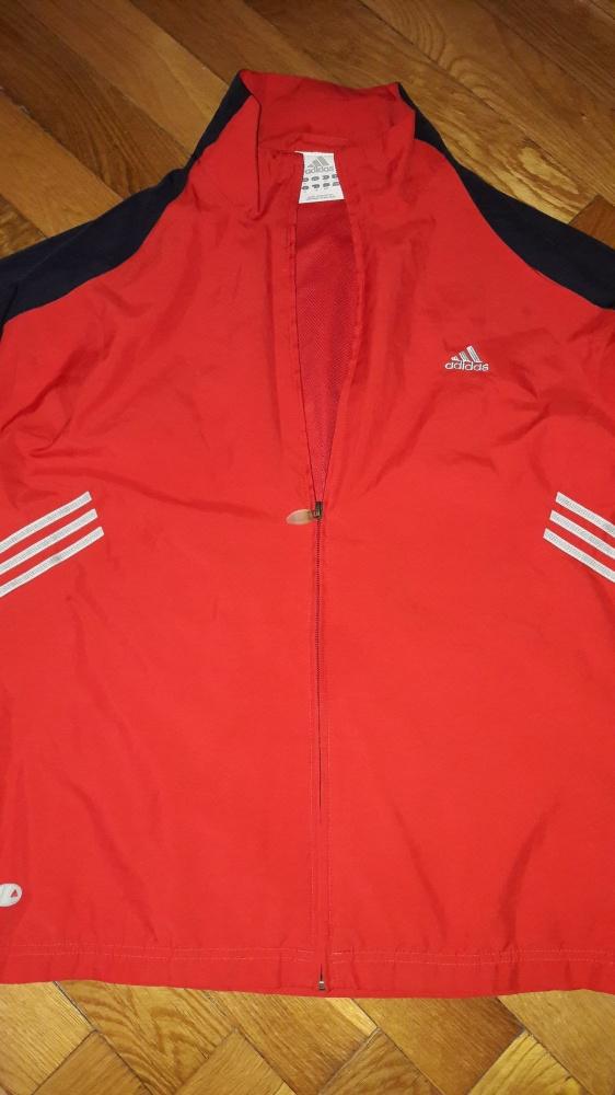 Adidas kurtka wiatrówka czerwona, r. M stan BDB