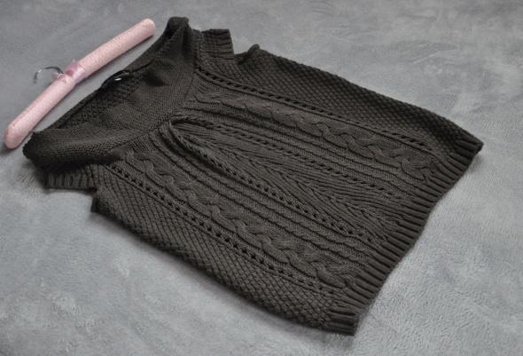 River Island narzutka sweterek brąz golf 38 M