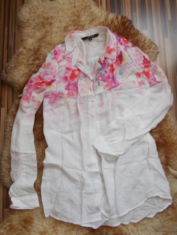Koszula elegancka biała w kwiaty Reserved 38...