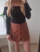 New look spódniczka zamszowa z przodu zamek M...