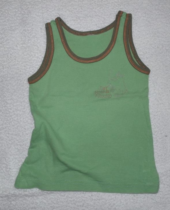 Dwie koszulki na ramiączkach 86 98