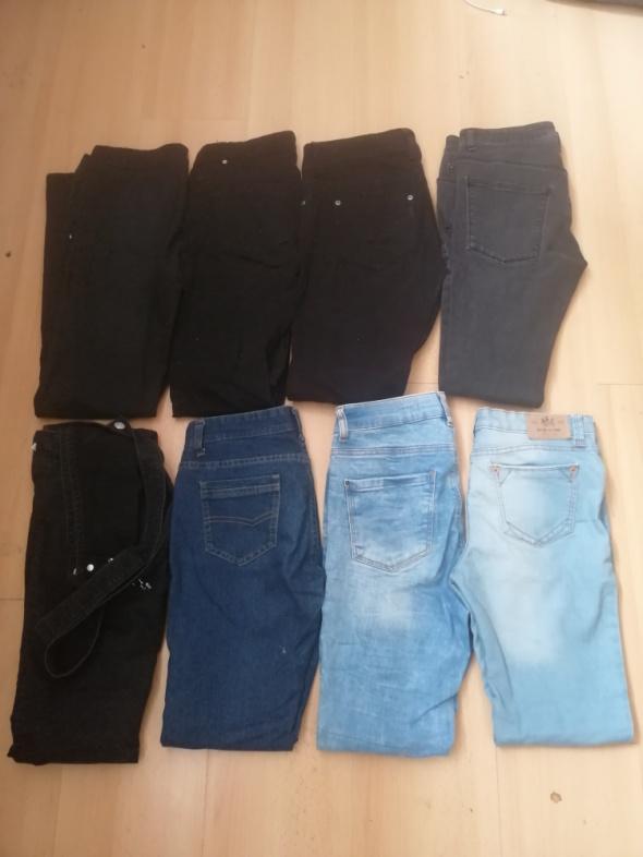 Spodnie Jeansy 8 sztuk