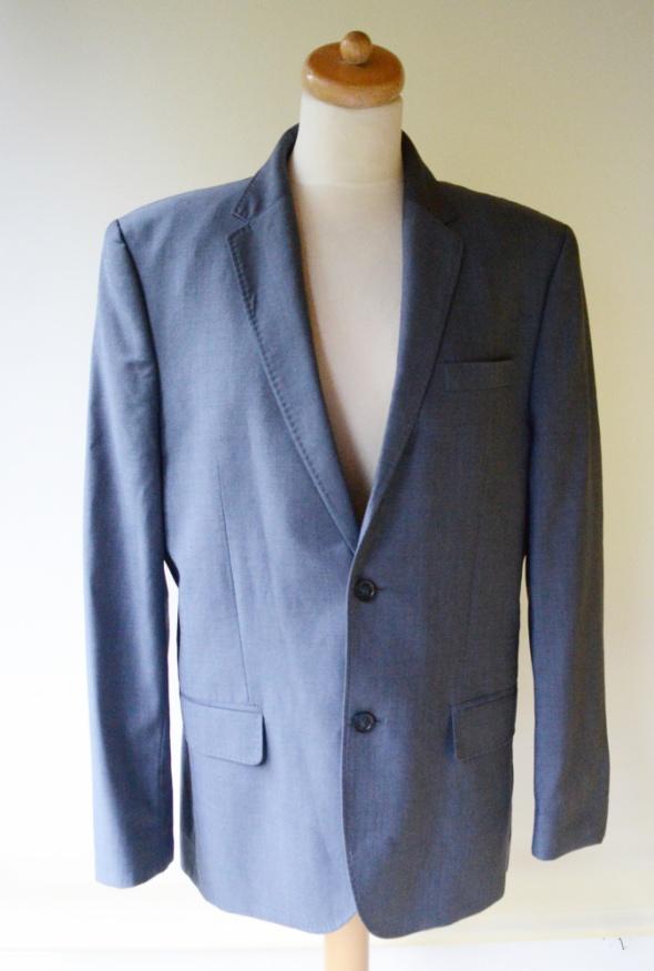 Garnitur H&M 52 Niebieski Elegancki Wizytowy Men